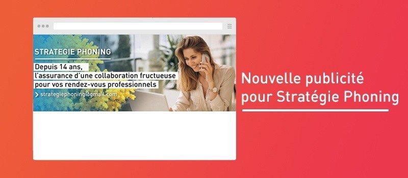 """Featured image for """"Nouvelle publicité pour Stratégie Phoning"""""""
