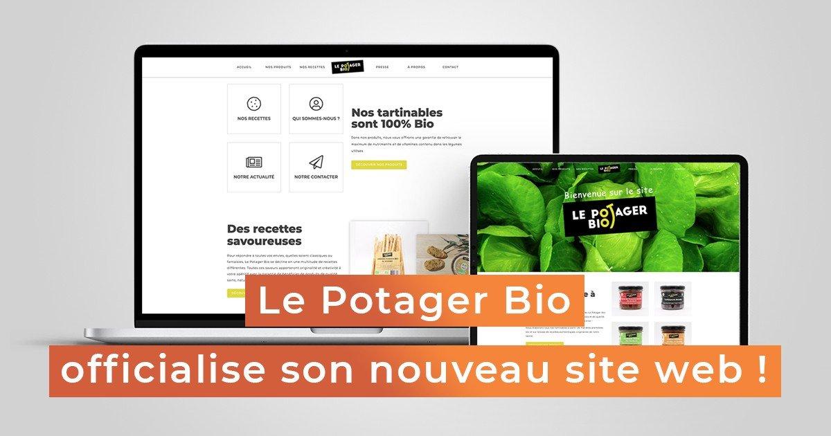 """Featured image for """"Le Potager Bio officialise son site créé par Mon Consultant Marketing"""""""